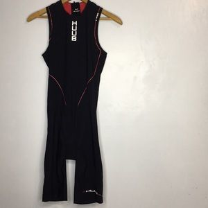 HUUB long course red and black tri suit sz M